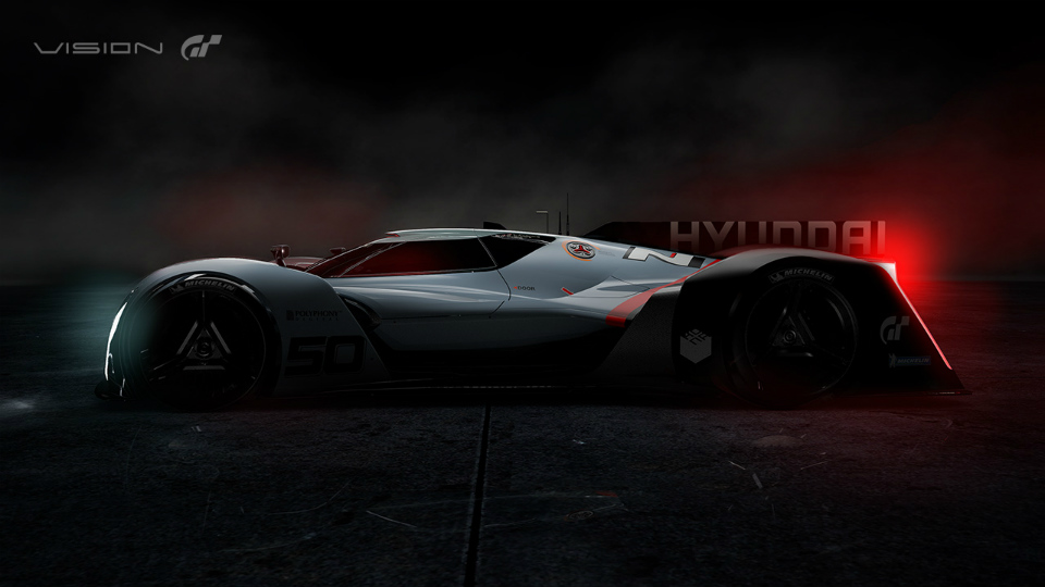 Hyundai показала силуэт виртуального суперкара-истребителя