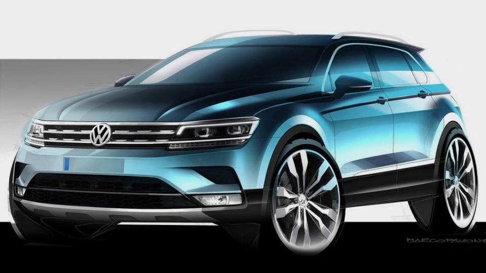 Volkswagen показал дизайн нового «Тигуана»