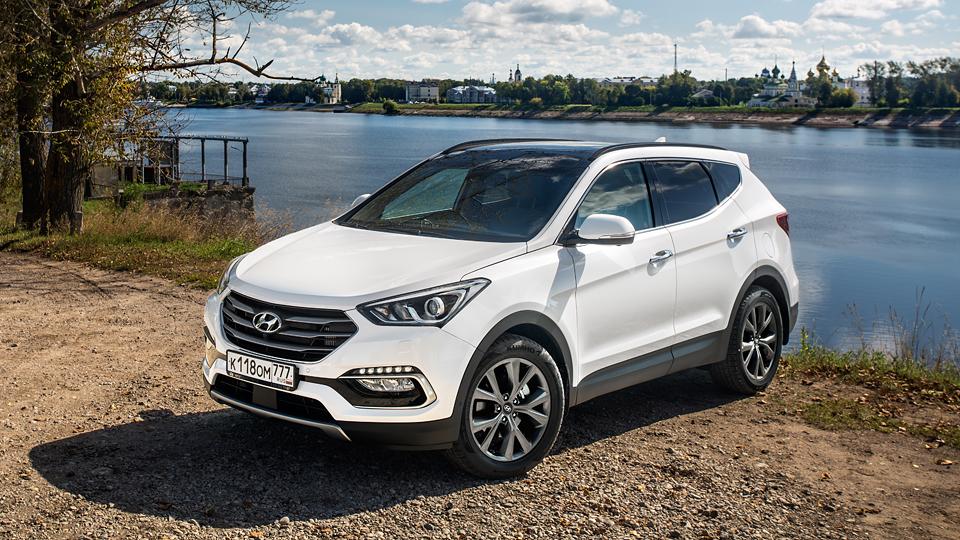 Компания Hyundai назвала рублевые цены на обновленный Santa Fe