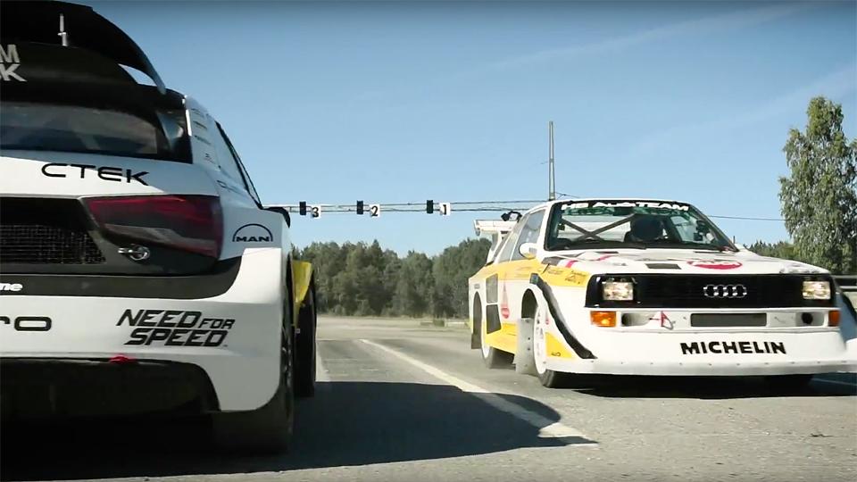 «Настоящий Стиг» сравнил раллийные Audi двух поколений