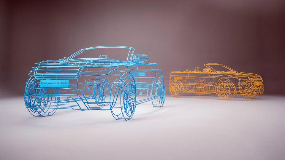 Land Rover показал «скульптуру» кабриолета-кроссовера