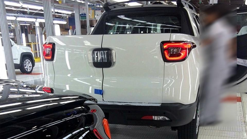 В Бразилии сфотографировали модель Fiat Toro