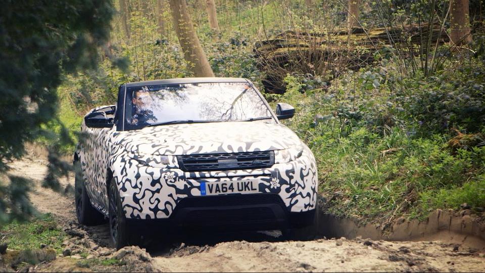 Компания опубликовала тизер кабриолета Range Rover Evoque