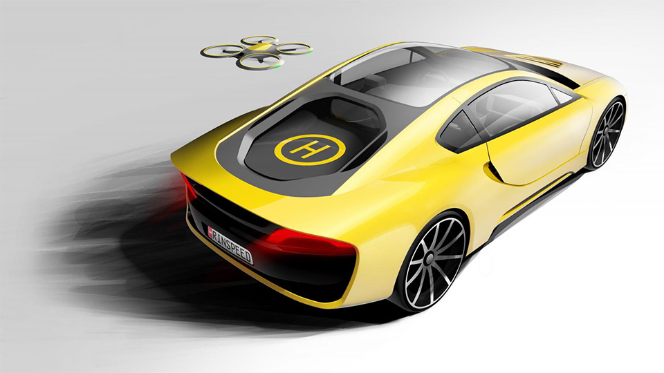 Швейцарцы сделали спорткар с автопилотом и дроном