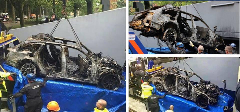 Преступники уничтожили бывшую машину горонолыжника Йона Олссона. Фото 2
