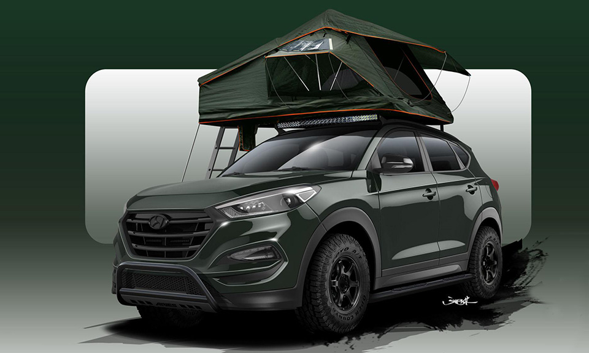 В Hyundai сделали Tucson с палаткой на крыше