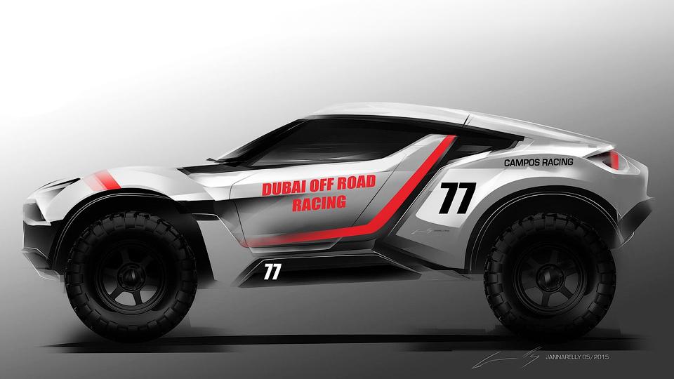 Компания Zarooq построит автомобиль с 500-сильным мотором