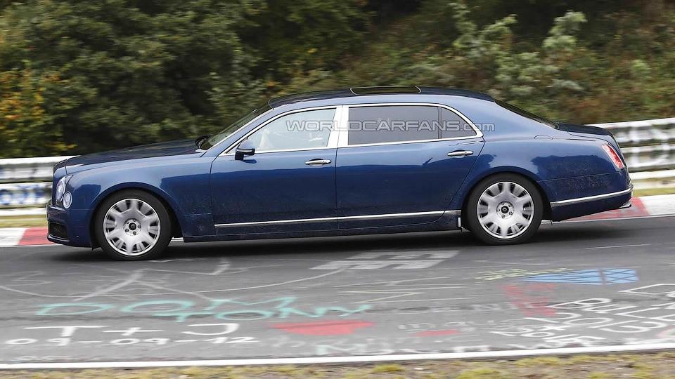 Шпионы сфотографировали удлиненный Bentley Mulsanne