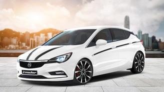 Новую Opel Astra уже доработали в тюнинговом ателье - Opel