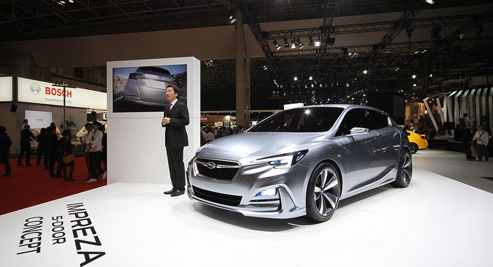 Дизайн Subaru Impreza нового поколения раскрыли на прототипе