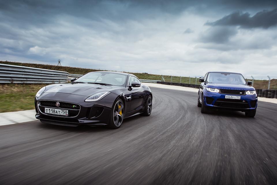 Jaguar F-Type R AWD против Range Rover Sport SVR в грязи и на асфальте. Фото 6