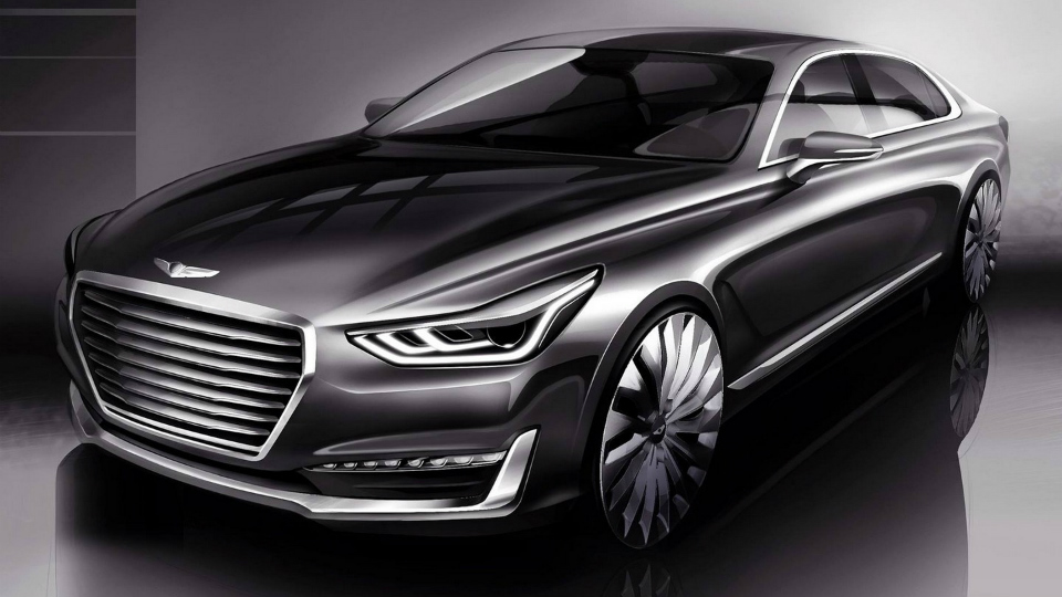 Компания Hyundai показала дизайн преемника седана Equus