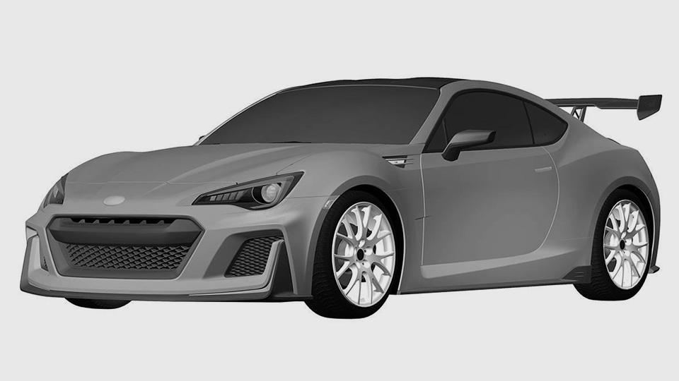 Запатентован дизайн «заряженной» версии совместного купе Toyota и Subaru