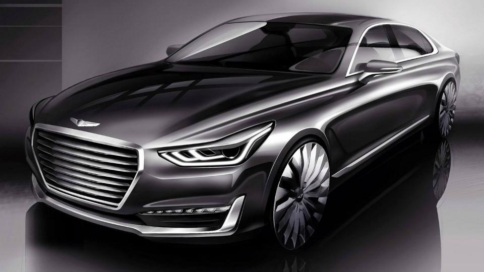 Genesis G90 получит новый турбомотор и систему полуавтономного управления