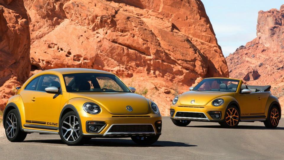 Volkswagen Beetle Dune будет предлагаться в виде хэтчбека и кабриолета
