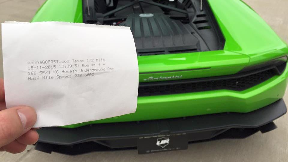 Lamborghini Huracan разогнался за 800 метров до 384 километров в час