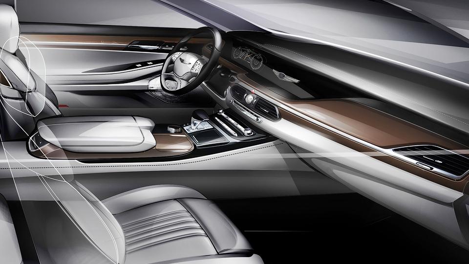 Компания Hyundai показала интерьер нового флагмана