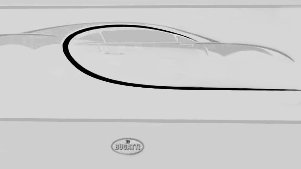 Клиентам Bugatti продемонстрировали силуэт нового гиперкара