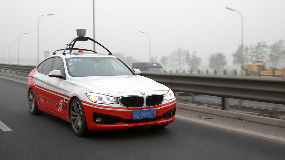 «Китайский Google» испытал автомобиль-беспилотник