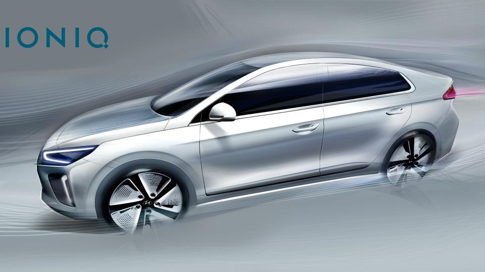 Компания Hyundai показала дизайн нового гибрида