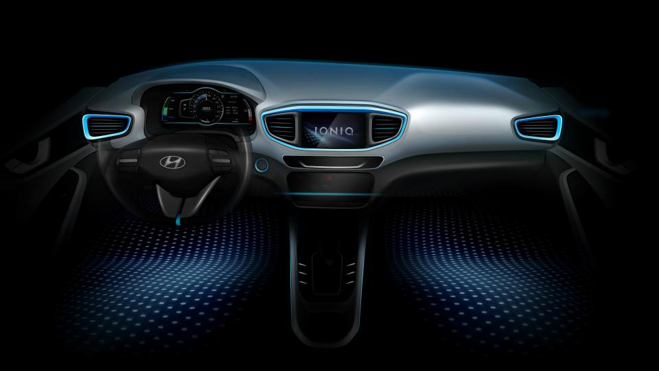 Hyundai Ioniq будет предлагаться с тремя видами силовых установок