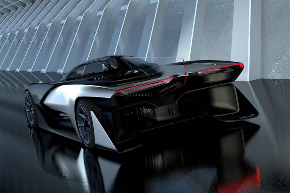 Концепт-кар FFZERO1 получил четыре электромотора. Фото 3