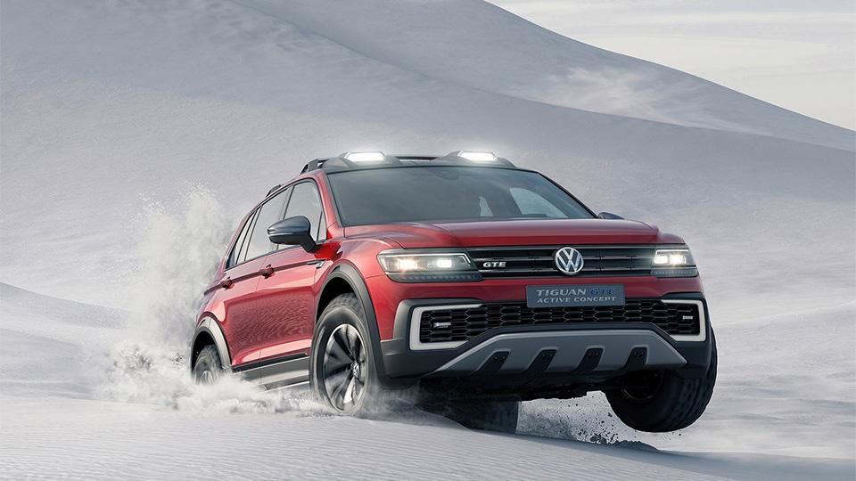 Гибридный VW Tiguan подготовили для бездорожья