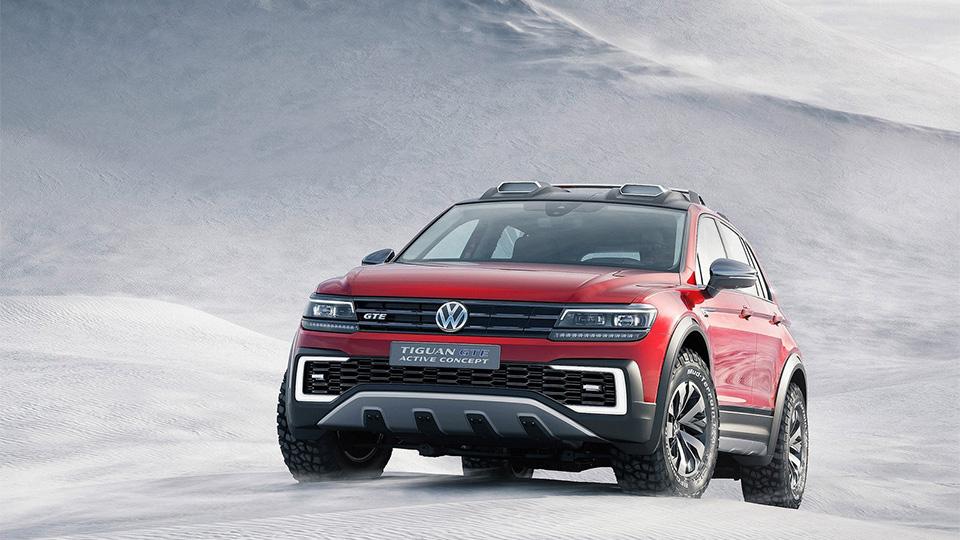 Компания Volkswagen показала прототип Tiguan GTE Active Concept. Фото 2