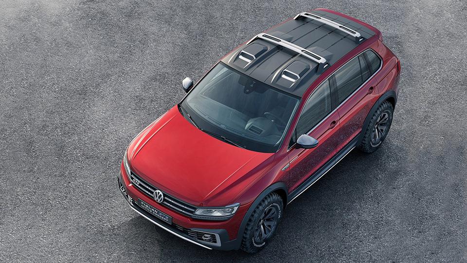 Компания Volkswagen показала прототип Tiguan GTE Active Concept. Фото 3
