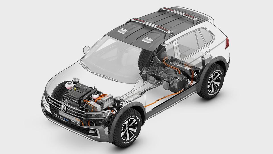 Компания Volkswagen показала прототип Tiguan GTE Active Concept. Фото 1