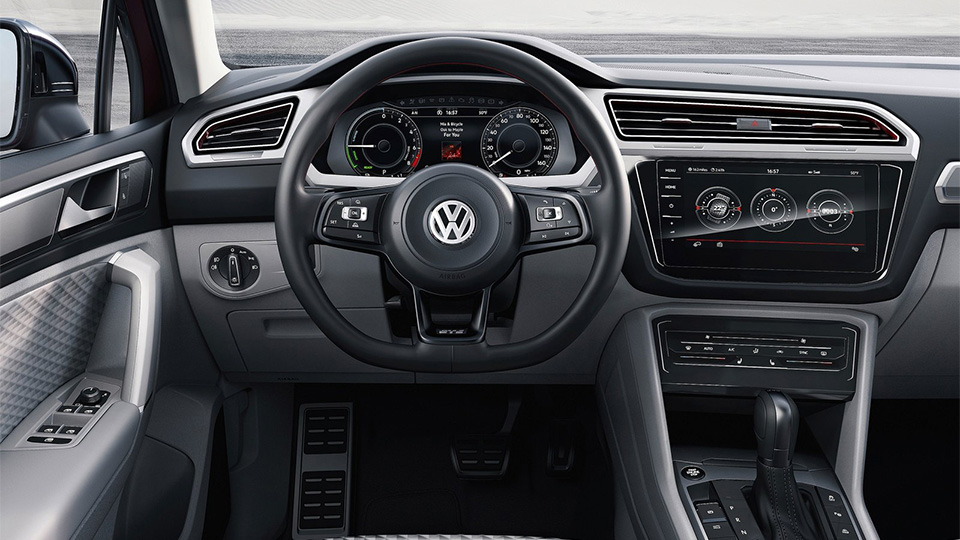 Компания Volkswagen показала прототип Tiguan GTE Active Concept. Фото 4