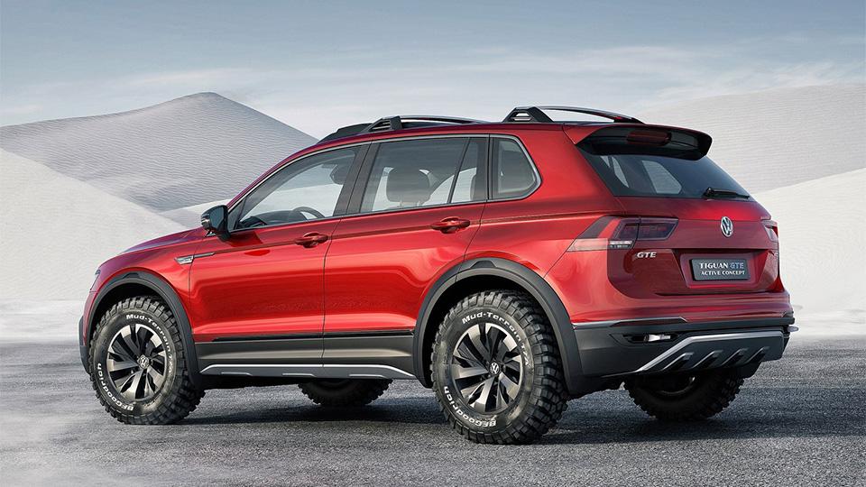 Компания Volkswagen показала прототип Tiguan GTE Active Concept