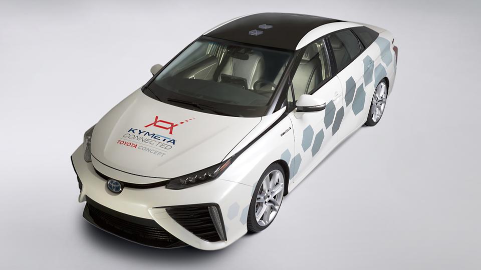Водородный седан Toyota Mirai превратили в спутниковую антенну