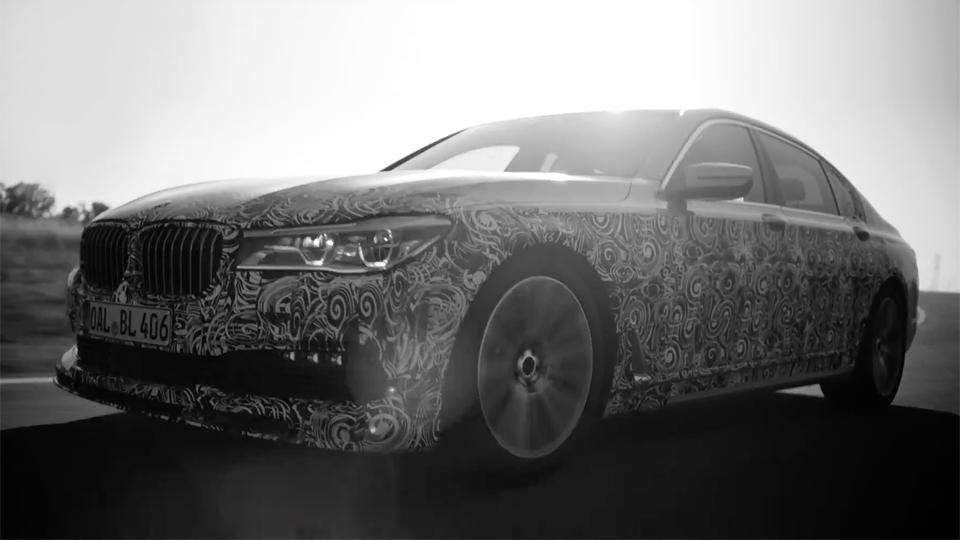 «Альпина» показала тизер новой «заряженной» «семерки» BMW