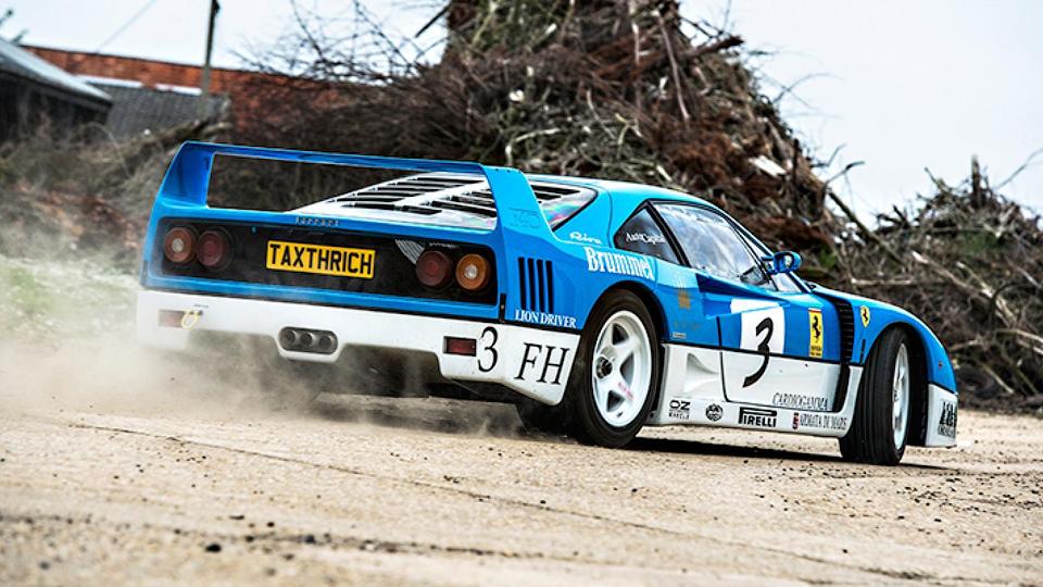 Британцы устроили джимхану на раритетном Ferrari F40