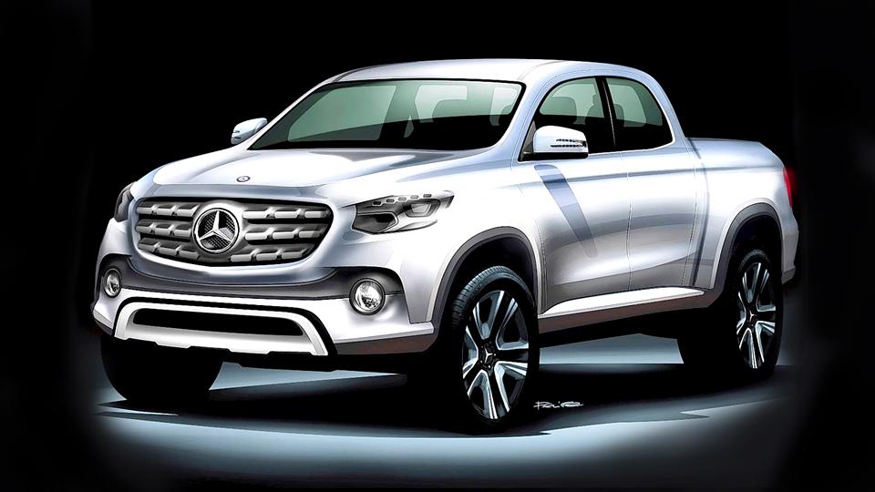 Стали известны варианты названий первого пикапа Mercedes-Benz