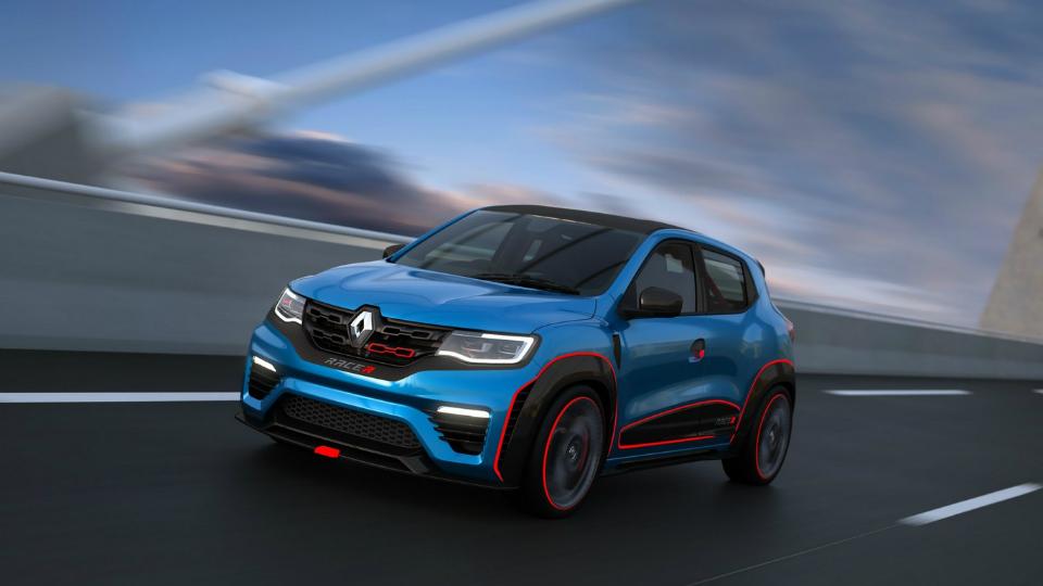 Маленький хэтчбек Renault приспособили к гонкам и бездорожью