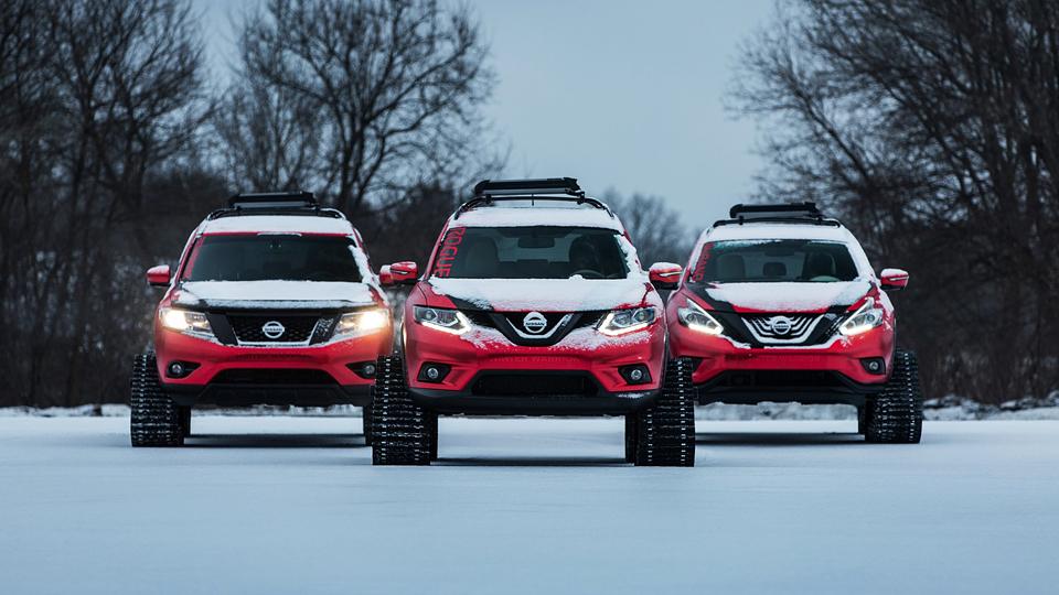 Nissan поставил на гусеницы кроссоверы Murano и Pathfinder