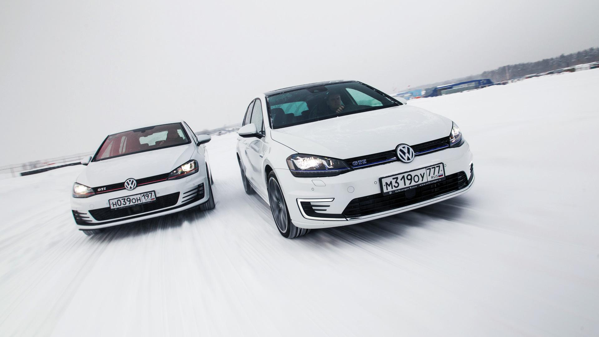 Гибридный хот-хэтч VW Golf GTE против обычного VW Golf GTI . Фото 1