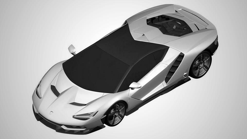 В Сети появились патентные изображения нового суперкара Lamborghini