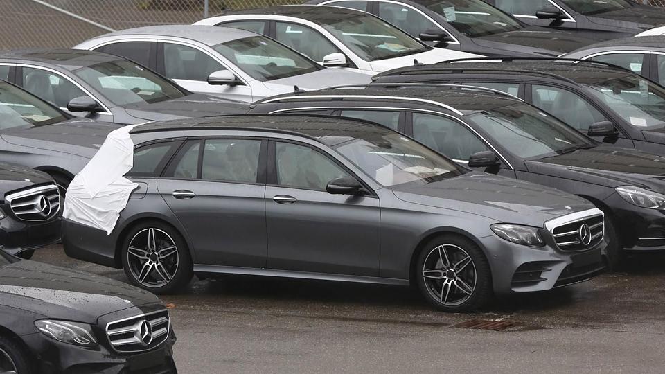 Шпионы сфотографировали универсал Mercedes-Benz E-Class