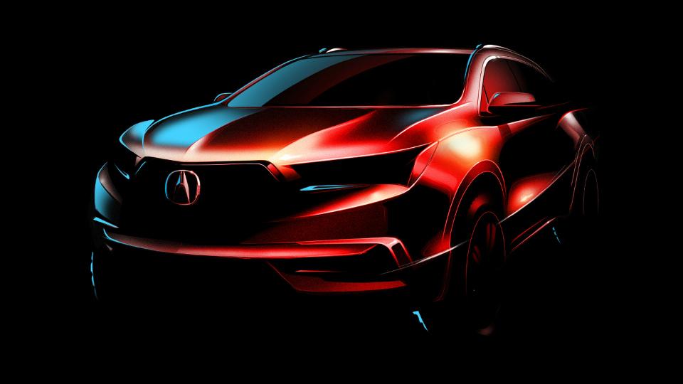 Acura показала дизайн обновленного кроссовера MDX