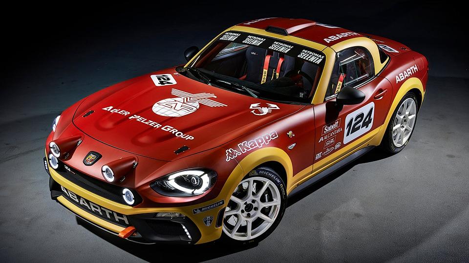 Fiat 124 Spider «зарядили» и подготовили к ралли