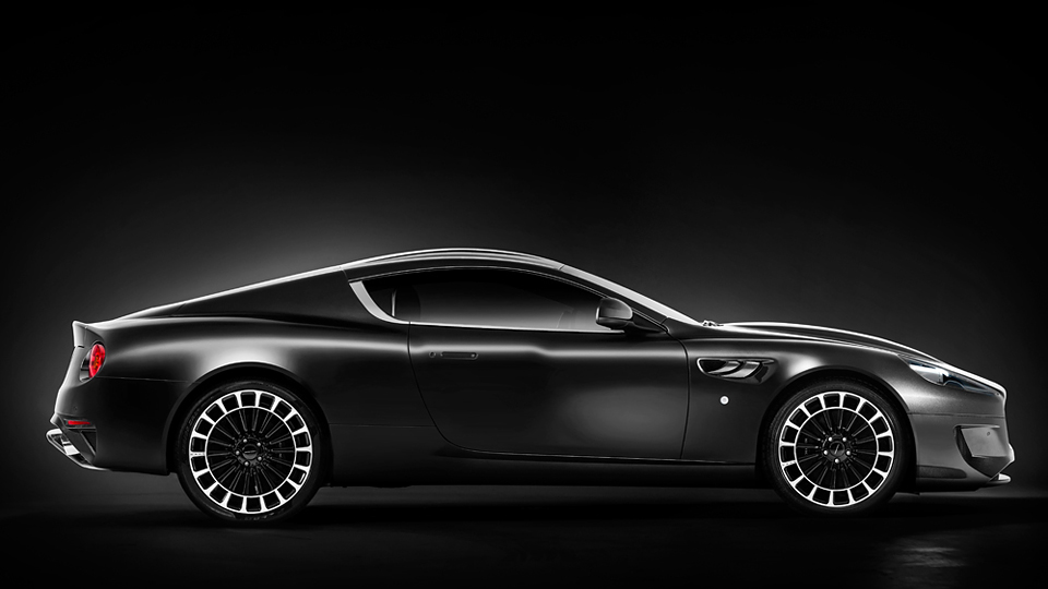 Тюнеры добавили Aston Martin DB9 колеса в виде рулетки. Фото 1