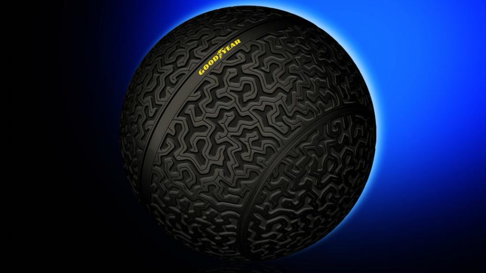 Фирма Goodyear разработала сферические шины для беспилотников