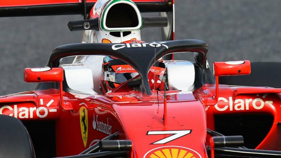 Ferrari первой опробовала защитный «нимб» болида Формулы-1