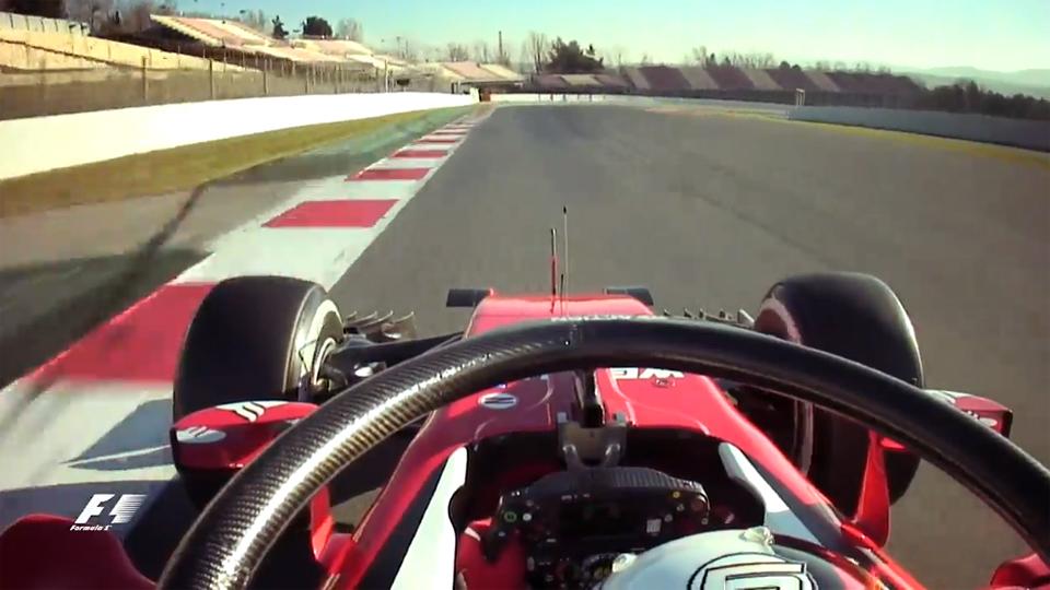 «Нимб безопасности» болида Формулы-1 впервые сняли на видео