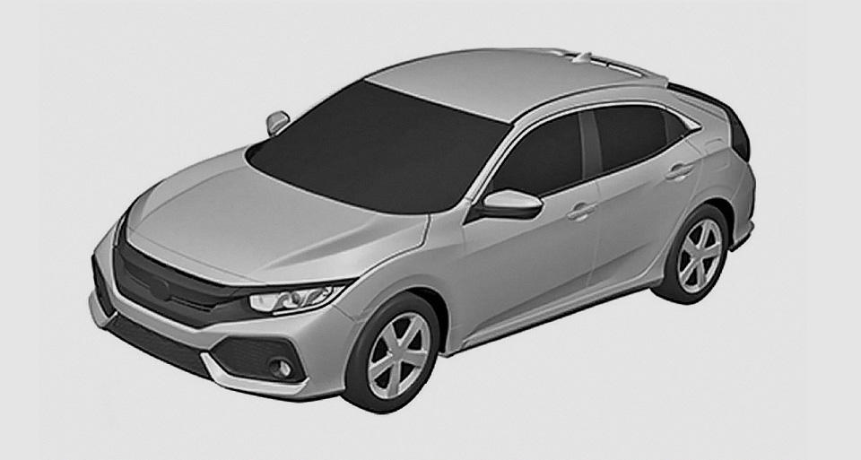 В Сети показали внешность хэтчбека Honda Civic нового поколения