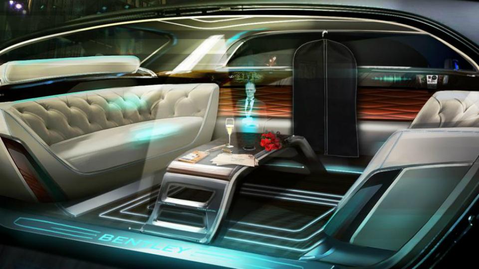 Компания Bentley придумала интерьер с «голографическим дворецким»