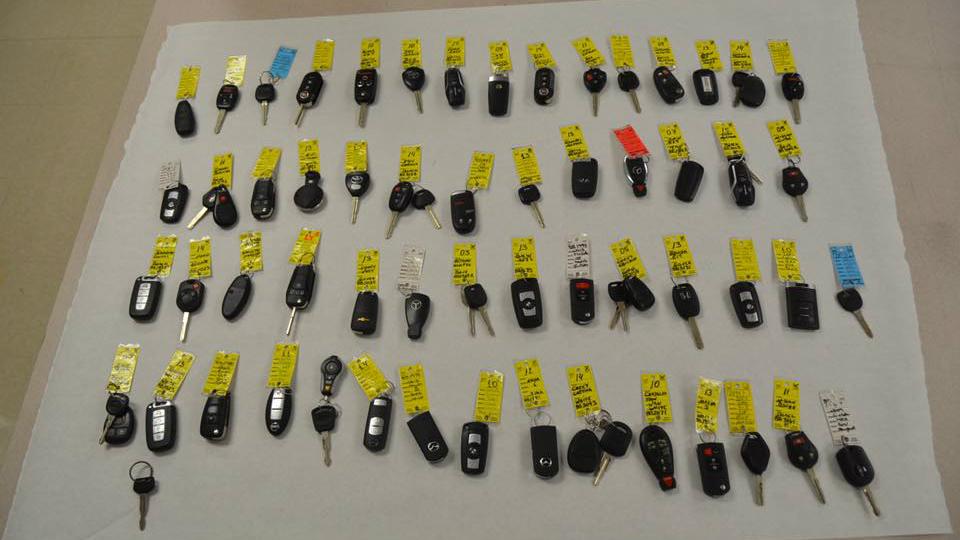 Житель Флориды похитил внедорожник и 60 ключей к другим машинам. Фото 1